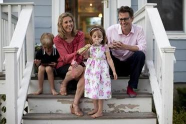 John and Aria McElhenny, shown with their children Luke and Ruby, cut their cable bill by using Hulu and Netflix.